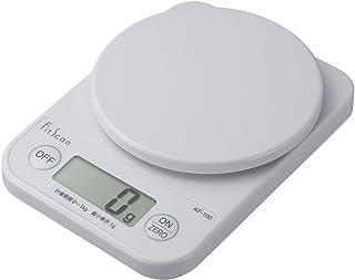 タニタ クッキングスケール キッチン はかり 料理 デジタル 1kg 1g単位 ホワイト KF-100 WH