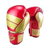 Guantes De Boxeo para El Entrenamiento De Muay Thai Maya Mitones del Cuero Piel...