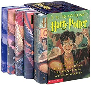 Harry Potter Hardcover Box Set with Leather Bookmark (Books 1-5)