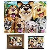 3D LiveLife Lenticular Cuadros Decoración - Selfie canina de Deluxebase. Poster 3D sin marco de perros. Obra de arte original con licencia del reconocido artista, Michael Searle