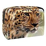 Bolsa de Aseo Hombres y Mujeres Leopardo Animal para Niñas Organizador de Bolso Cosmético Accesorios de Viaje Bolsa de Viaje Bolsa de Lavado 18.5x7.5x13cm