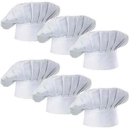 Red Hyzrz Chef Hat Adult Adjustable Elastic Baker Kitchen Cooking Chef Cap