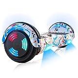 "Hoverboard, Hoverboard Premium de 6.5 ""- Altavoz Bluetooth - Potente Motor Dual - LED - Patineta eléctrica Self Balance Scooter (Pintada)"