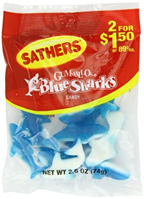 Farley's & Sathers Candy, Blue Sharks, 2.6 Ounce