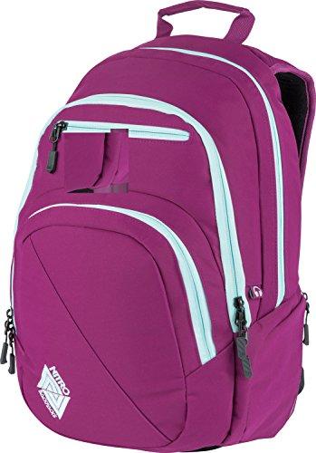 Nitro Stash Rucksack Schulrucksack Schoolbag Daypack Damenrucksack Schultasche schöne Rucksäcke Alltag Fahrradtasche, Grateful Pink, 29L