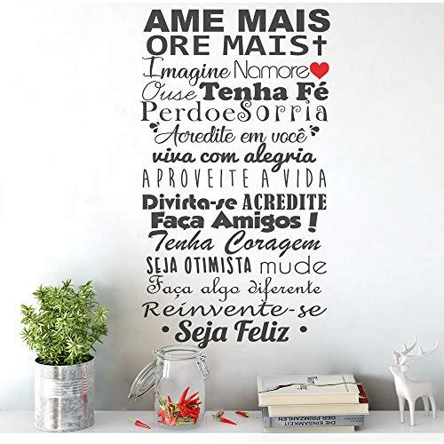 Adesivo Decorativo De Parede Frase Ame Mais Ore Mais Amigos