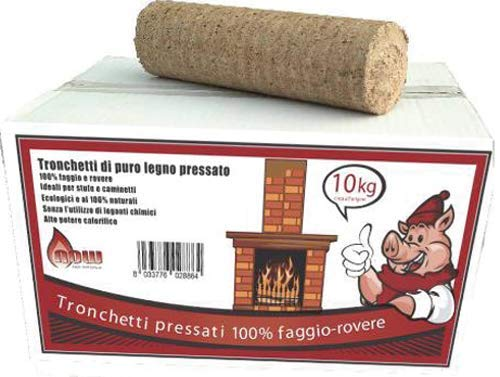 TRONCHETTO IN LEGNO 100% FAGGIO DI ROVERE 10 kg.
