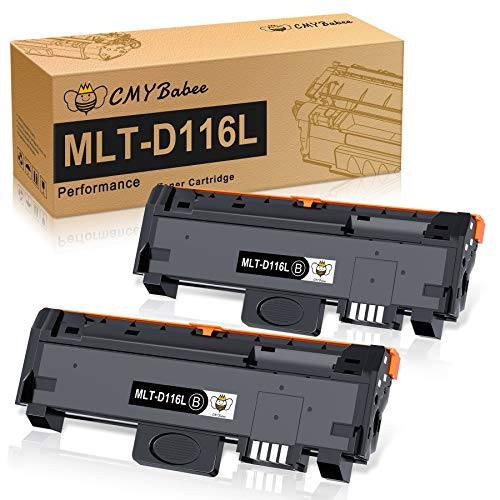 CMYBabee MLT-D116L Cartuccia Toner Sostituzione Compatibile per Samsung MLT-D116L D116S per Samsung Xpress M2625D M2675F M2675FN M2825DW M2825ND M2835DW M2875FW M2875FD M2885FW (Nero, 2 Pezzi)