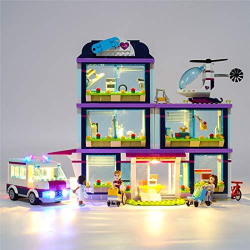 DOSGO Licht-Set Für Friends Heartlake Hospital Modell - LED Beleuchtung Light Kit Kompatibel Mit Lego 41318 (Modell Nicht Enthalten)