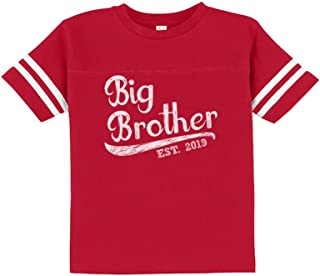 Tstars - Gift for Big Brother 2019 Siblings Gift Toddler Jersey T-Shirt