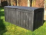 GSD KETER GLENWOOD PLASTIC GARDEN STORAGE BOX WATERPROOF 5 YEAR GUARANTEE XL SIZE 390 LTR