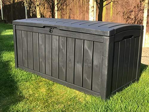 GSD KETER GLENWOOD PLASTIC GARDEN STORAGE BOX WATERPROOF 5 YEAR GUARANTEE...