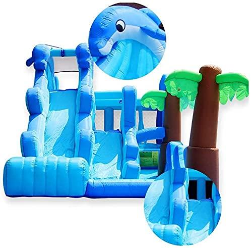 ZGYZ Bouncy Castle Marine Playground Toys Toboganes para niños La Cama Plegable Cuadrada al Aire Libre Adecuado para Parques Piscinas Patios, Castillos hinchables para niños