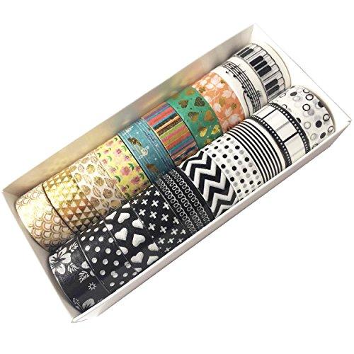 EDGEAM Washi Tape - Set di 20 nastro nastro decorativo Masking Tape