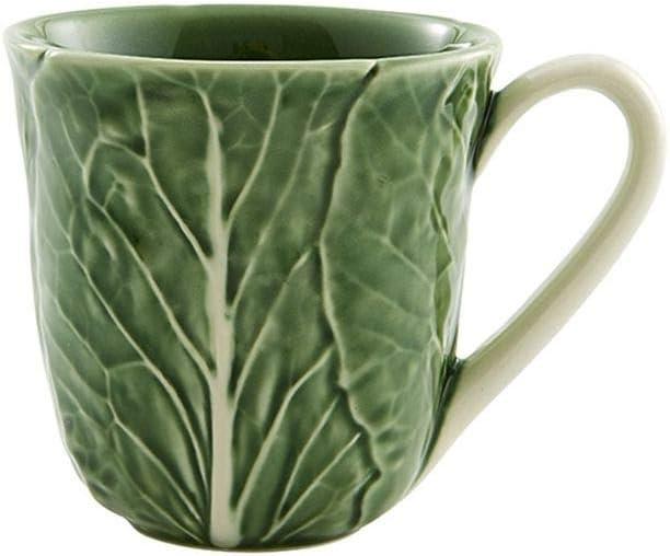 Bordallo Pinheiro Cabbage Great interest Mugs Natural Max 84% OFF 4 Set Green of