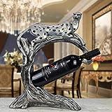 YAeele Decoraciones del Arte del Arte Leopardo decoración Enfriador de Vino botellero salón Regalo Porche de su casa