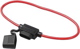 Entweg Suporte de fusíveis automotivos Suporte em linha ATC/ATN/ATM Blade suporte de fusíveis Chicote de fiação adequado p...