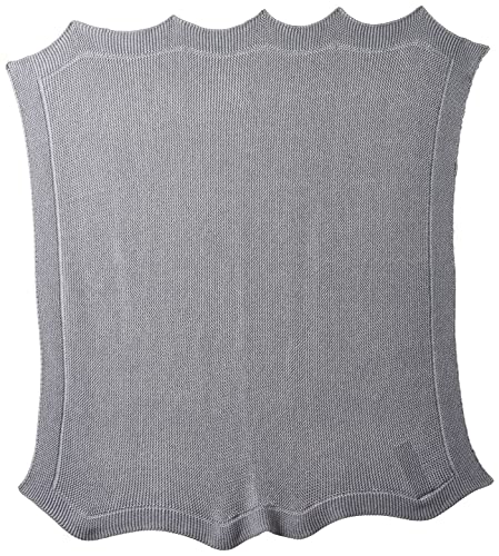 Chicco Couverture Tricot en Maille 100% Coton Light Grey