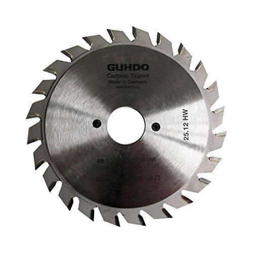 guhdo Lame de scie circulaire 120 x 2,8–3,6 – Alésage : 20 mm – 2 axes de   Z2 x 12 V – Fabriqué en Allemagne