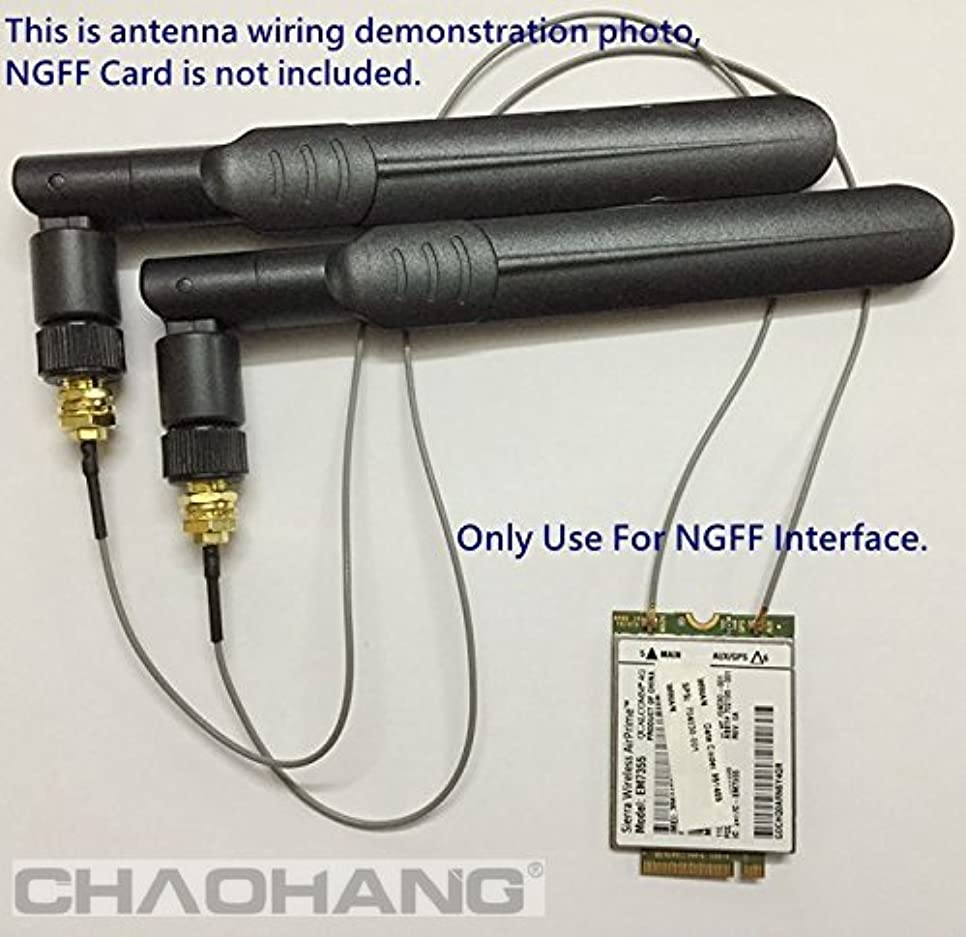 甘やかす各スリップシューズporjet :新しい2?x 6dbi RP - SMAデュアルバンド2.4?GHz 5?GHz + 2?x 35?cm M。2?(NGFF) ケーブルアンテナModキットはんだno use for NGFFワイヤレスカード& M。2?(NGFF) 3?G/4gカード