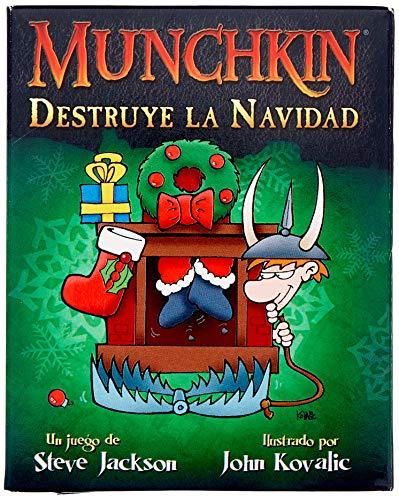 Edge Entertainment- Munchkin: Destruye la Navidad - Español, Color (1)