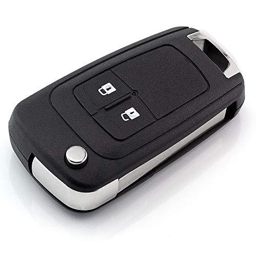 Carcasa de repuesto para llave de coche con 2 botones, compatible con Opel Insignia, Meriva, Astra J, Insignia, Corsa, E, Meriva B, Zafira C, etc. Mando a distancia