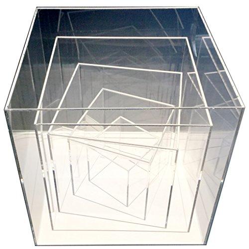 HOKU Holzhäuser Kunststofftechnik . Acryl-Abdeckung Acryl-Vitrine Acryl-Glas Schau-Kasten Spuck-Schutz Ausstellung Gross (Transparent-30x30x30 cm)