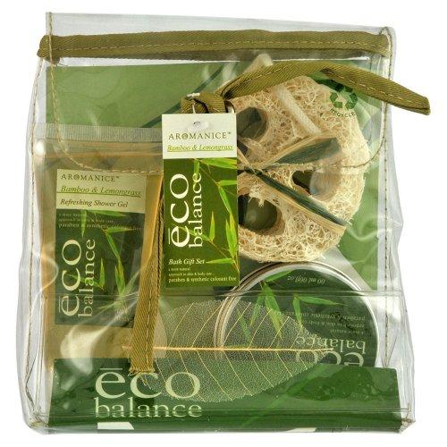 Gloss! Coffret de Bain Eco Balance Bambou et Citronnelle 3 Pièces