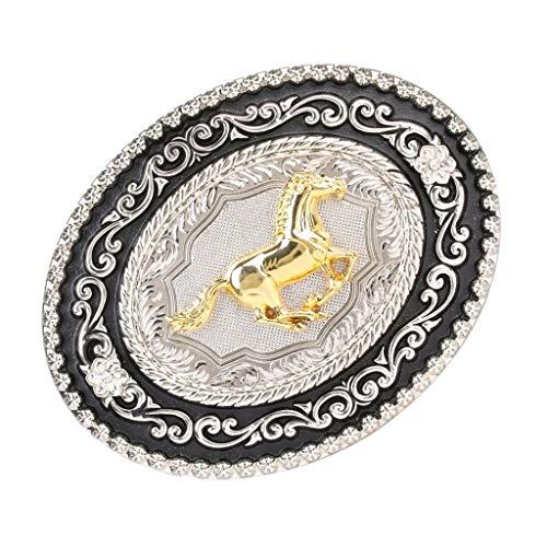 dailymall Hebilla de Cinturón de Vaquero Occidental Accesorios de Ropas para Hombres - Caballo Corriendo
