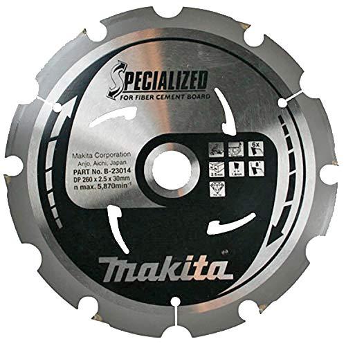 Makita b-23014PCD Hoja de sierra circular 260mm x 6dientes orificio de 30mm 1Plata