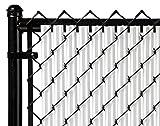 Ridged Slats Slat Depot Single Wall Bottom Locking Privacy Slat for 3', 4', 5', 6', 7' and 8' Chain Link Fence (6ft, White)