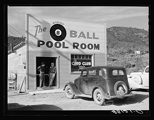 WonderClub Historic Photos 1940 Photo Pool Hall. Shasta County, California Location: California, Shasta County