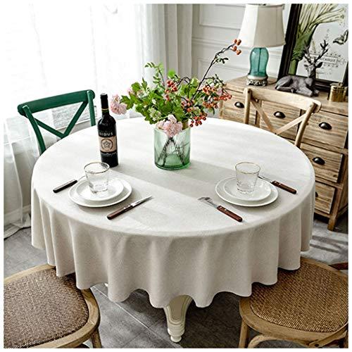 MeiMei Toile Ronde Beige Simple de Tissu de Cabinet de la télévision TV de Tissu de Nappe de Table Basse d'hôtel (Taille : 160CM)