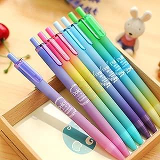 Katoot@ 12pcs/lot Dreamy color press gel pen Cute 0.5mm black ink pen signature pen Canetas korean stationery school office supplies