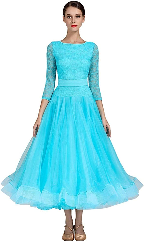 Long Sleeves National Standard Ballroom Dance Dresses,Women Competition Dancewear,Modern Waltz Tango Dance Costume suit
