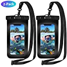 Syncwire Waterproof Phone Case, 2-Pack Universal IPX8 Waterproof Phone Pouch Dry Bag with Lanyard for iPhone 11 Pro XS MAX XR X 8 7 6s 6 Plus SE 5s Samsung S10 S9 Huawei P30 P20 Mate20 Pro up to 7""