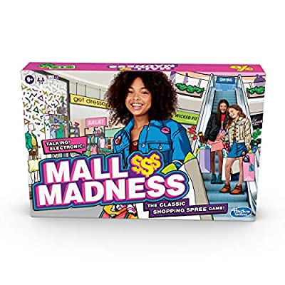 Hasbro Gaming Mall Madness Game, Talking Electronic Shopping Spree Board Game for Kids Ages 9 and Up, for 2 to 4 Players by Hasbro