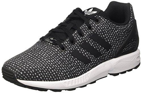 adidas Zx Flux J, Scarpe da Ginnastica Basse Unisex-Bambini, Nero (Core Black/Core Black/Ftwr White), 40 EU