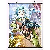 アニメソードアートオンラインファブリック絵画アニメの家の装飾壁の巻物のポスターの装飾19.7x29.5inch / 50x75cm