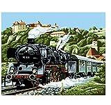 Pintura Digital Pintura Por Números Diy Hermoso Tren De La Ciudad Naturaleza Muerta Lienzo Decoración De La Boda Imagen Del Arte Regalo