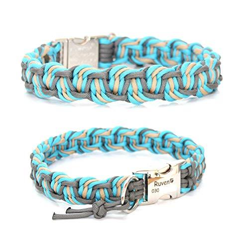 Paracord Halsband - Dance, Hundehalsband, wahlweise mit Gravur und weiteren Extras
