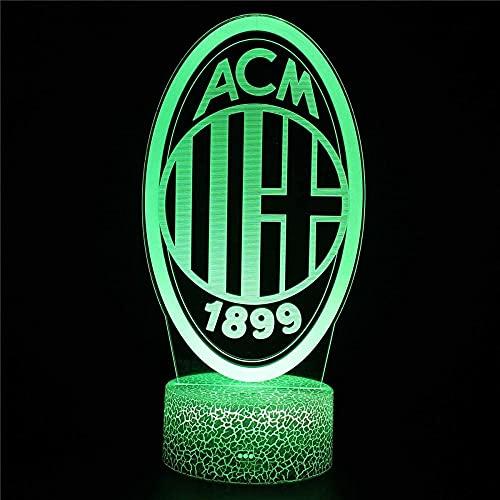 A-Generic LED 3D LED - Ilusión 3D - Leyendas Creativas - Regalos de cumpleaños para Hombre y Amigos - Control Remoto 16 Cambiando colores-ACM1899
