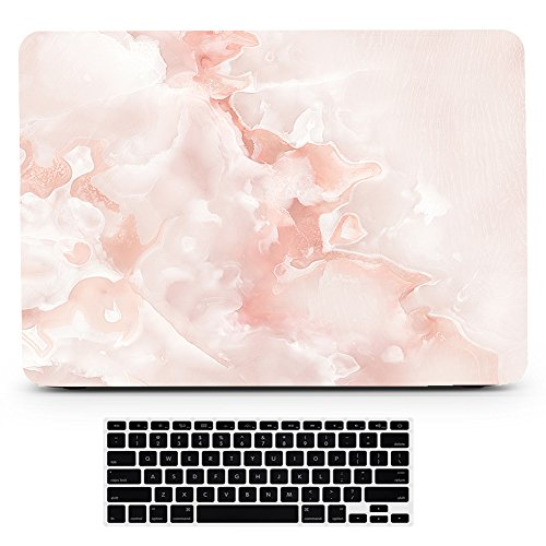 Price comparison product image Bizcustom Marble Pink Paint Matte Hard Shell Rubberized Decal Case Cover for Macbook Pro 15 Touchbar 2016 Model A1707