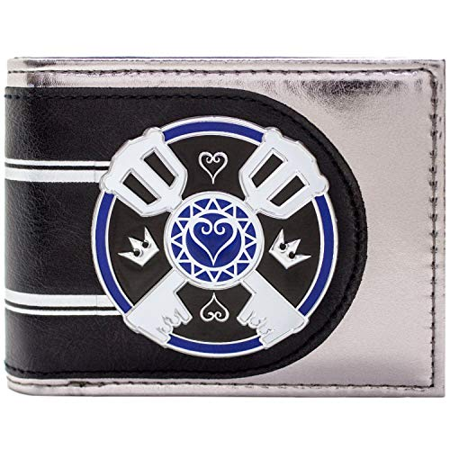 Cartera de Kingdom Hearts Logo de Llaves Plata