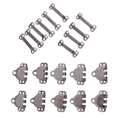 dailymall 10 Sets/Pack Metal Iron Trouser Hook & Bar Fastener for Sewing Accessories - Black