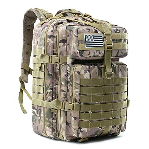 Generic Brands Camouflage Bag Military Fan Bag 50 Liter Männlicher taktischer Rucksack mit großem Fassungsvermögen Military Assault Bag Outdoor 3P EDC Moore Wandercamping Jagdtasche