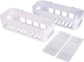 TOPBATHY 2 adet Köşe Depolama Rafı Duş Rafı Duvar Delinmeyen Yapışkan Depolama Rafı Düzenleyici Banyo Mutfak için (Beyaz)