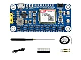 Waveshare NB-IoT/Cat-M(eMTC)/GNSS Telecommunication Hat for Raspberry Pi Based on SIM7080G Globally Applicable for Intelligent Instruments Asset Tracking Remote Monitoring E-Health