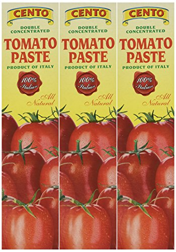 Cento Tomato Paste in Tube 4.56 oz,Pack of 3