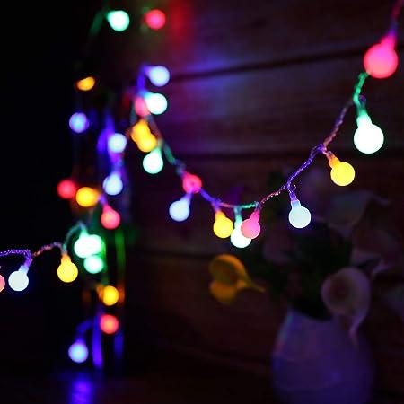 Guirlande lumineuse Exterieure, 13M 100 LED guirlande ampoule, 8 Modes avec télécommande, Guirlande Guinguette Extérieur étanche IP44, Luminosité réglable, 3.6W LED Petites Boules